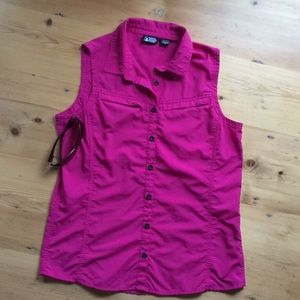 EMS M pink nylon top